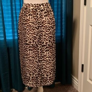 Express Leopard Print Skirt